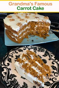 GRANDMA'S FAMOUS CARROT CAKE - Susan Recipes Famous Carrot Cake Recipe, Cake Cookies, Cupcake Cakes, Cupcakes, Susan Recipe, Eclair Recipe, Sweet Carrot, How To Make Frosting, Cake Mixture