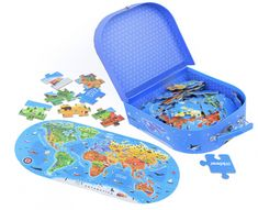 Our World Map Floor Puzzle – 100 Pieces Floor Puzzle, Puzzle Box, Puzzle Games For Kids, Puzzles For Kids, Toys For Girls, Kids Toys, World Map Puzzle, Gender Neutral Toys, Steam Toys