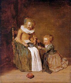 Dirck Hals (1591–1656) CHILDREN WITH CAT