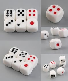 [Visit to Buy] 6pcs/Set 16mm Square Dice Gaming Dices Playing Single Side Number 1-6 Dot Cool For fun #Advertisement