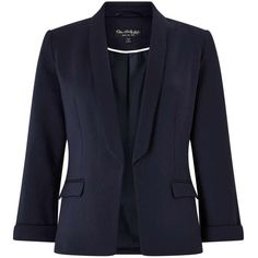 Miss Selfridge Navy Ponte Blazer ($60) ❤ liked on Polyvore featuring outerwear, jackets, blazers, blazer, white, ponte jacket, miss selfridge, ponte knit jacket, navy blazers and navy blazer jacket
