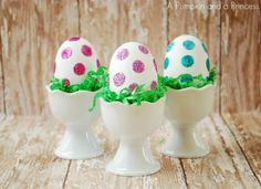 Glitter Easter Eggs Tutorial