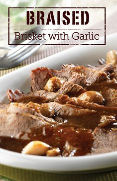 Make a tasty Braised Brisket with Garlic for dinner this winter. It's delicious and your family will love it!