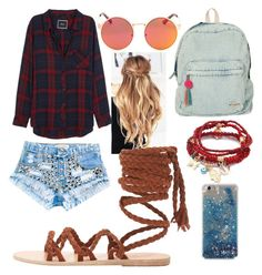 """Untitled #224"" by wattpad-lover-z ❤ liked on Polyvore featuring Rails, Runwaydreamz, Ancient Greek Sandals, Billabong and Chicnova Fashion"