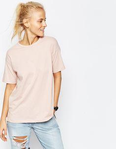 Bild 1 von New Look – Übergroßes T-Shirt in Leinenoptik