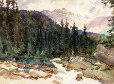 The Athenaeum - Alpine Landscape (John Singer Sargent - )