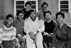 In only his third year as women's track coach at Tennessee State University, Ed Temple, center, has six Tigerbelles -- Wilma Rudolph, left, Isabelle Daniels, Willie B. White, Lucinda Williams, Mae Faggs, and Margaret Matthews -- bound for the Olympic Games. 10/13/1956