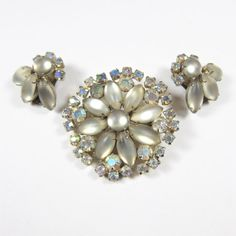 Vintage Brooch and Earrings Set Cluster by AmbassadorGrooviness