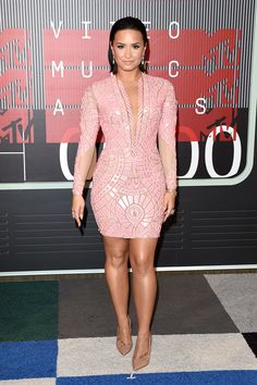 Demi Lovato attends the MTV Video Music Awards at Microsoft Theater in Los Angeles on Aug. 30, 2015.   - Cosmopolitan.com