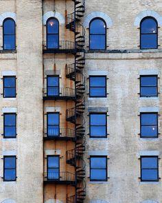 Fire escape on Boston building.  by Paul Keleher