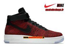 Nike Air Force 1 High Ultra Flyknit Homme Rouge université/Rouge équipe/Blanc/Noir 817420-600
