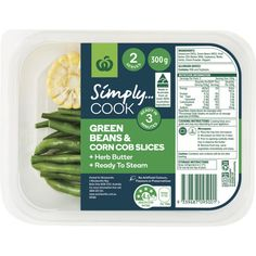 3.11 stars, 340 reviews for Woolworths Simply Cook Green Beans & Corn Cob Slices w Herb Butter 300g EA on Bunch.