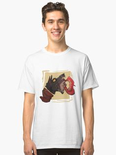 a shirt for the lovers of the weird and the absurd Wolf T Shirt, Heather Grey, Classic T Shirts, Weird, Shirt Designs, Lovers, Logo, Denim, Fitness