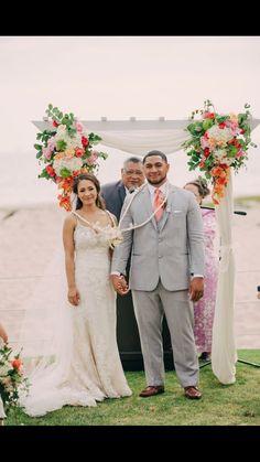 Arch Flowers, Chuppah, Bridesmaid Dresses, Wedding Dresses, Lace Wedding, Beach, Fashion, Bridesmade Dresses, Bride Dresses