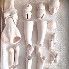 Свеженькие прямо из печки!Утильный обжиг. #porcelain #bjd #doll #handmaid #фарфор #куклы #бжд #olgagood #SPdolls