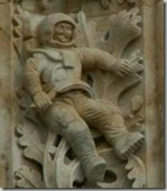 Astronaut on 1600s church!