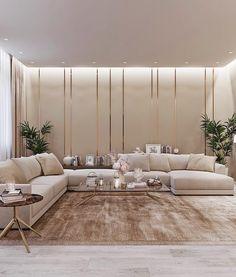 Home Design Living Room, Elegant Living Room, Living Room Modern, Interior Design Living Room, Beige Living Rooms, Luxury Interior Design, Luxury Dining Room, Luxurious Bedrooms, House Rooms