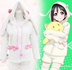 "Cute kawaii rabbit ears pajamas coat Coupon code ""cutekawaii"" for 10% off"