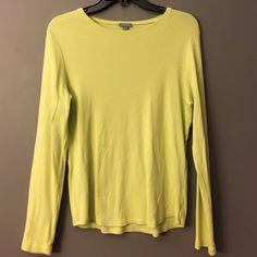 Ann Taylor Lime Green Top Perfect for spring transition. Long sleeve, 100% Pima Cotton. No signs of wear. Ann Taylor Tops Tees - Long Sleeve