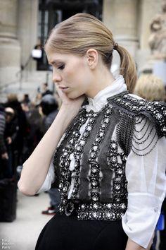 Couture Armor on Elena Perminova Nouvelle Proletarian