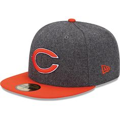 Mens New Era Chicago Bears Melton Basic 59FIFTY® Structured Fitted Hat - NFLShop.com