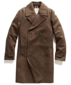 Olive Wool Double Faced Military Coat.  Todd Snyder.