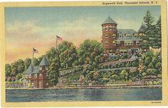 VINTAGE OLD POSTCARD LINEN HOPEWELL HALL THOUSAND ISLANDS NEW YORK