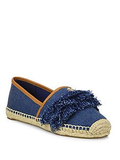 Tory Burch Shaw Fringed Espadrille Flats