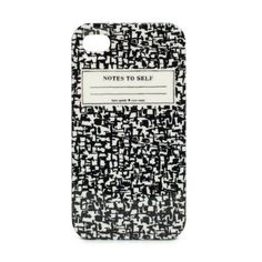 Composition book iPhone case from Kate Spade   OMFG I NEEEEEEED THIS NOW. @Stephanie Jones @Holly Gardner  @Erin Mankin