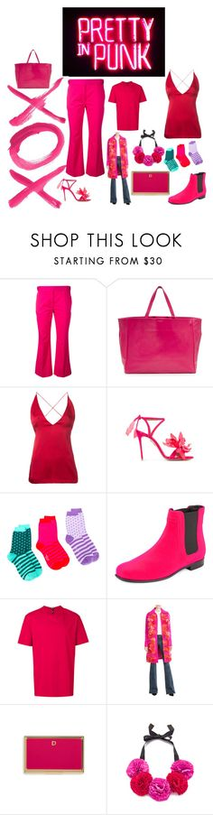 """""""Pretty and Pink"""" by ramakumari ❤ liked on Polyvore featuring GALA, Dion Lee, Aquazzura, Paul Smith, Roger Vivier, Versus, Victoria, Victoria Beckham and Kate Spade"""
