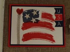 Happy 4th of July using the Stampin' Up Work of Art Stamp Set. visit www.stamponwithheart.blogspot.com