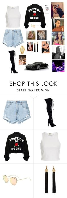 """""""Untitled #521"""" by brie-karitsa-luciano on Polyvore featuring Nobody Denim, NARS Cosmetics, River Island, Yves Saint Laurent and Michael Kors"""