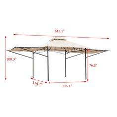 Details About Outsunny 20 X 10 Gazebo Canopy Shelter Patio Wedding Party Tent Outdoor Awning