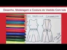 Vestido de Tule - Desenho,Modelagem e Costura - YouTube