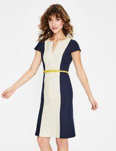 Freida Textured Dress Ivory Women Boden - Female - Ivory - Size: 10 R Day Dresses, Dresses For Work, Boden Dresses, Latest Fashion Dresses, Mode Online, Bold Fashion, New Wardrobe, A Line Skirts, Knit Dress