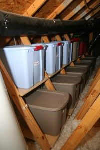 Organize Your Attic  --  Label the containers with their contents, or buy clear containers to see right through.