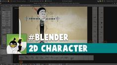 Blender - 2D Character controls test - Personagem 2D, teste