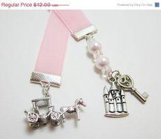SALE Princess Pink Velvet Ribbon Bookmark Horse by WhispySnowAngel, $9.00