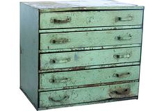 Metal Cabinet III >> Love this vintage piece!