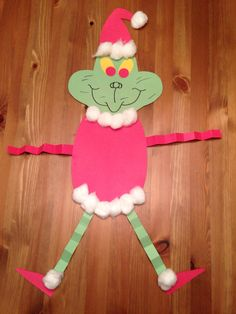 How the Grinch Stole Christmas Craft. - Christmas Craft - Grinch Man - Preschool Craft