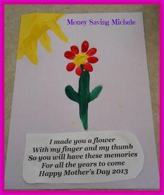 Mother's Day Craft for Kids- Fingerprint Flower