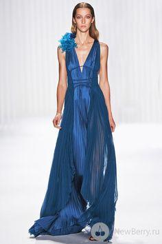 Electric Blue Silk Gown, J. Mendel 2013