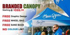 Branded Canopy $599.99