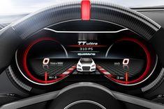 Audi TT ultra quattro concept - Instrument LCD display sketch