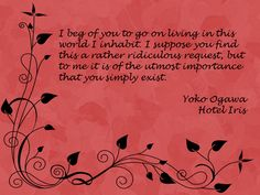 Quote from Hotel Iris by Yoko Ogawa