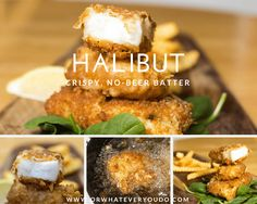 Battered Halibut with NO BEER? And NO CLUB SODA? Yup. Its possible. Thanks to baking powder in the batter mix! Yum!