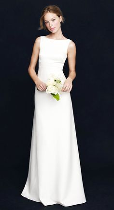The perfect, simple boatneck wedding dress from J.Crew #weddingdress