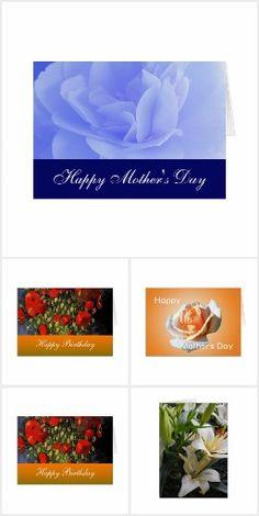 Flower birthday, holiday greeting cards