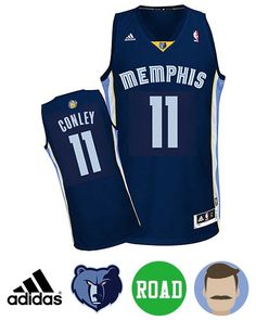 b2ba7a55d Men s Mike Conley  11 Navy Swingman Road Jersey. Air JordanJordan ShoesMemphis  Grizzlies ...