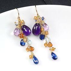 #etsyfinds #cluster #dangle #earrings